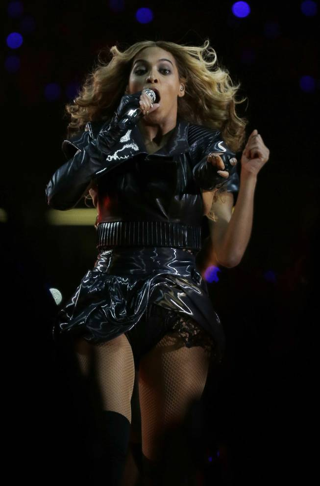 Beyonce performs performs during the Pepsi Super Bowl XLVII Halftime Show at Mercedes-Benz Superdome in New Orleans on Sunday, Feb. 3, 2013.