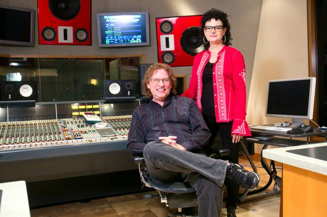 Pat and Zoe Thrall in Studio at the Palms, Monday Feb. 4, 2012.
