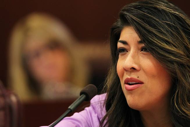 Assemblywoman Lucy Flores takes part in a Ways and Means Committee meeting on the second day of the 2013 legislative session Tuesday, Feb. 5, 2013 in Carson City.