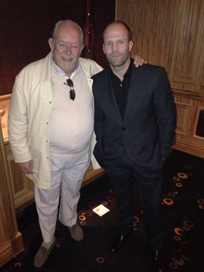 Robin Leach and Jason Statham at The London Club in Planet Hollywood on Thursday, Jan. 24, 2013.