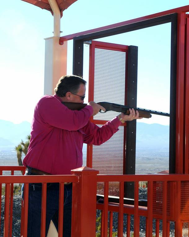 Steve Ross at the Clark County Shooting Complex.