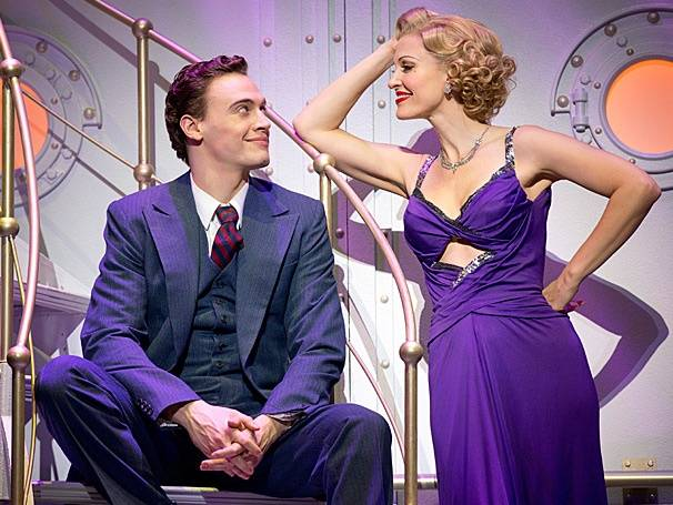 "Erich Bergen (Billy Crocker) and Rachel York (Reno Sweeney) star in ""Anything Goes."""