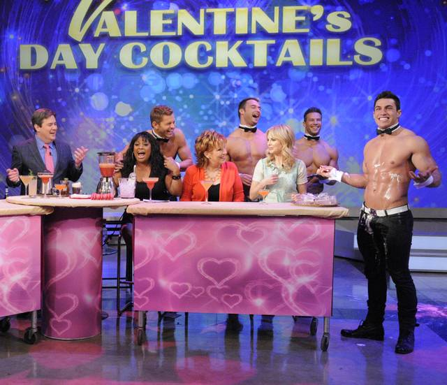 "Chippendales at The Rio stars Jaymes Vaughan, James Davis, Sami Eskelin and Jon Howes on ABC's ""The View"" airing Friday, Feb. 8, 2013."