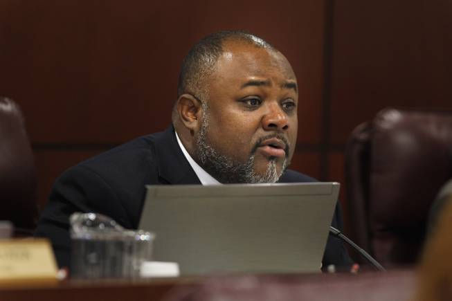 Assemblyman Jason Frierson takes part in a meeting of the Assembly Committee on Judiciary Friday, Feb. 8, 2013 during the 2013 legislative session in Carson City.