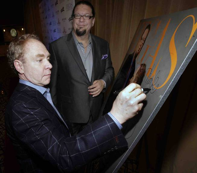 Penn & Teller's 20th-anniversary performance and celebration at The Rio on Friday, Feb. 8, 2013.