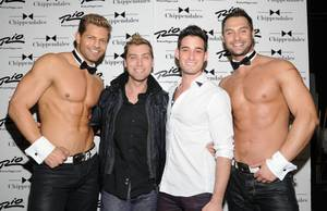 Lance Bass at Chippendales at The Rio