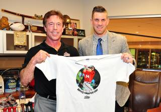 Bryce Harper Day at Findlay Toyota in Henderson on Friday, Feb. 8, 2013. Harper, right, is pictured with Rich Abajian.