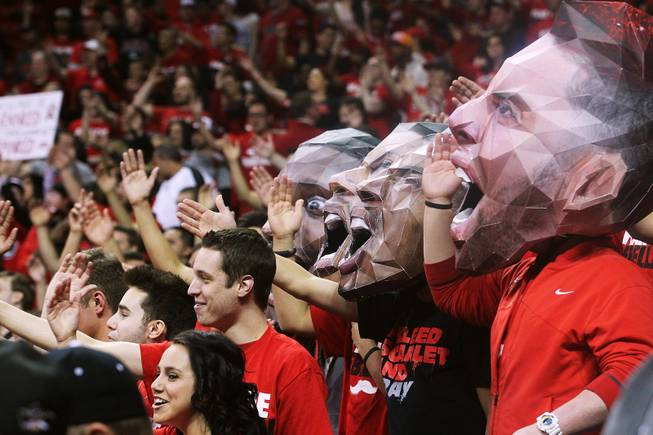 UNLV fans chant during their game against New Mexico Saturday, Feb. 9, 2013 at the Thomas & Mack Center. UNLV beat New Mexico 64-55.