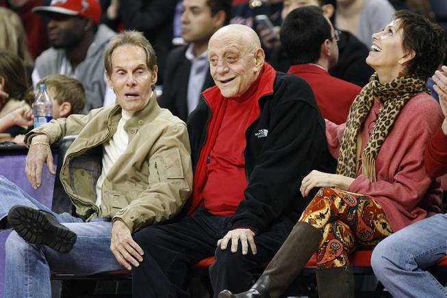 Former UNLV head coach Jerry Tarkanian watches the Runnin' Rebels take on New Mexico Saturday, Feb. 9, 2013 at the Thomas & Mack Center. UNLV beat New Mexico 64-55.