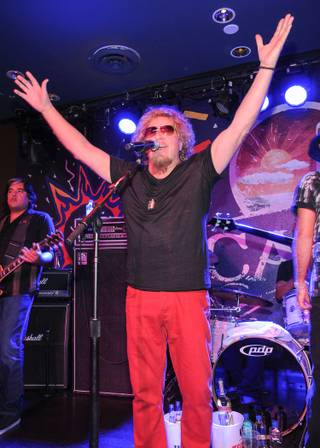 Cabo Wabo Cantina's third-anniversary party with owner and rocker Sammy Hagar at Planet Hollywood on Saturday, Feb. 9, 2013.
