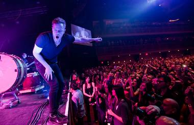 Imagine Dragons perform a sold-out concert at The Joint in the Hard Rock Hotel on Saturday, Feb. 9, 2013.