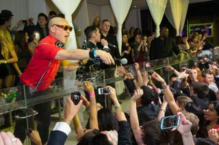 Far East Movement hosts and performs at Pure in Caesars Palace on Saturday, Feb. 9, 2013.
