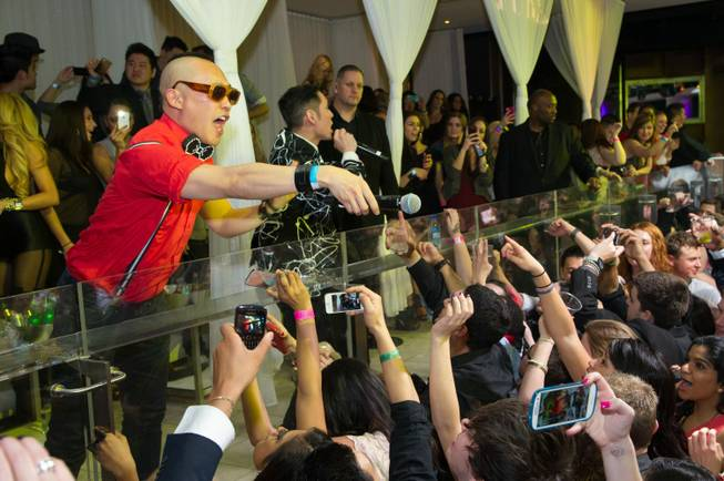 Far East Movement hosts and performs at Pure in Caesars ...