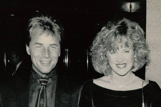 Don Johnson and wife Melanie Griffith at premier of their movie Paradise on September 15, 1991.  The pair were a couple for more than 20 years.