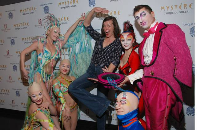 "Milla Jovovich at ""Mystere"" in Treasure Island."