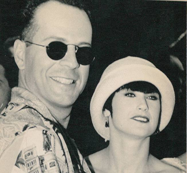 Actors Bruce Willis and Demi Moore on December 11, 1990. The couple was married in 1987.