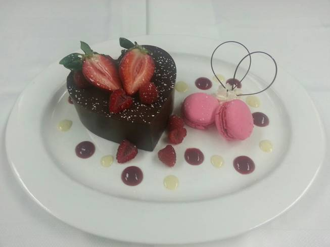 Chocolate heart Valentine's Day dessert at Central by Michel Richard.
