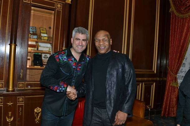 Taylor Hicks and Mike Tyson at Paris Las Vegas.