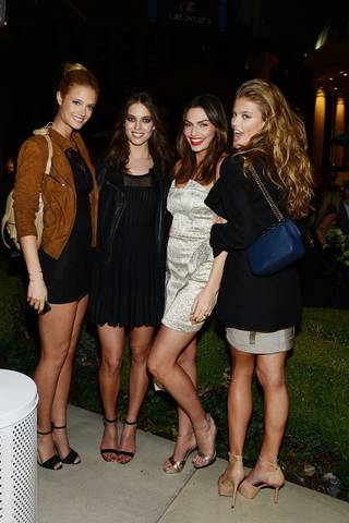 2013 Sports Illustrated Swimsuit Issue models Kate Bock, Emily DiDonato, Alyssa Miller and Nina Agdal arrive at Caesars Palace on Wednesday, Feb. 13, 2013.