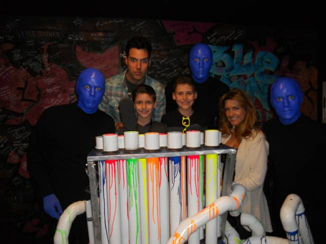 Stratosphere headliner Frankie Moreno and his family at Blue Man Group in Monte Carlo on Monday, Feb. 11, 2013.