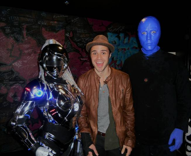 Kris Allen at Blue Man Group in Monte Carlo on Sunday, Feb. 10, 2013.