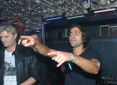 Adrian Grenier parties at Hyde Bellagio on Friday, Feb. 15, 2013.