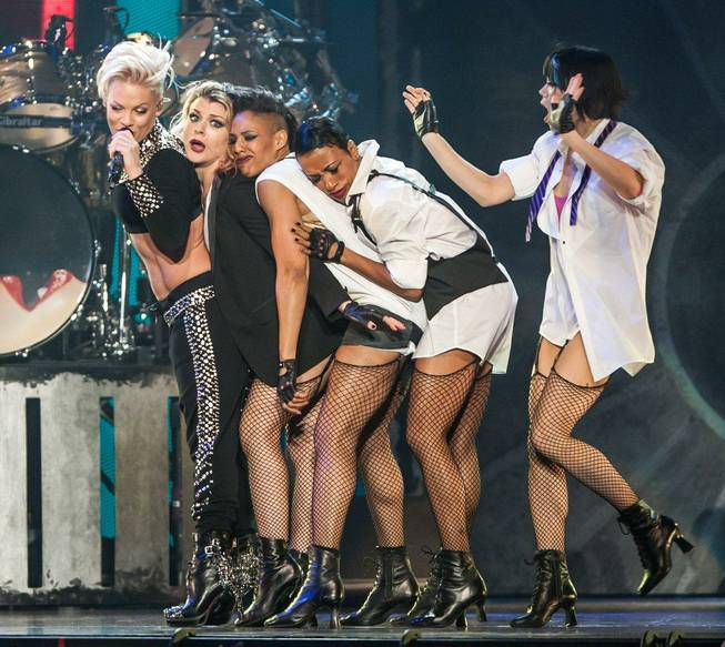"Pink performs at Mandalay Bay Events Center as part of her ""The Truth About Love Tour"" on Friday, Feb. 15, 2013."
