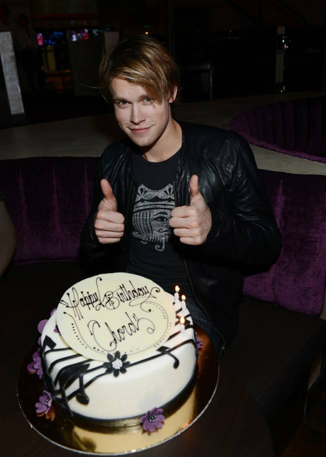 Chord Overstreet celebrates his 24th birthday at Heraea in Palms on Saturday, Feb. 16, 2013.