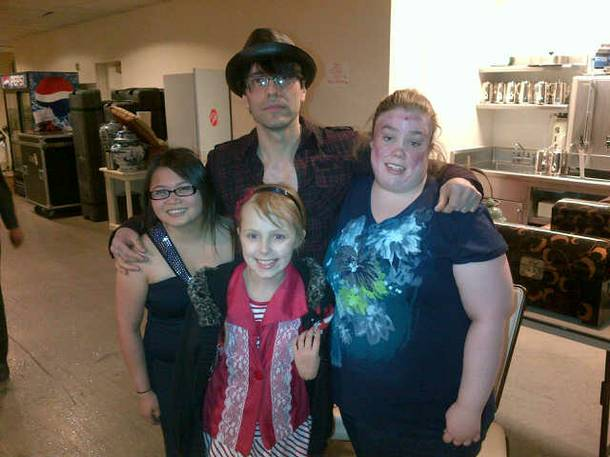 Criss Angel at a Make-a-Wish Foundation event in Las Vegas.