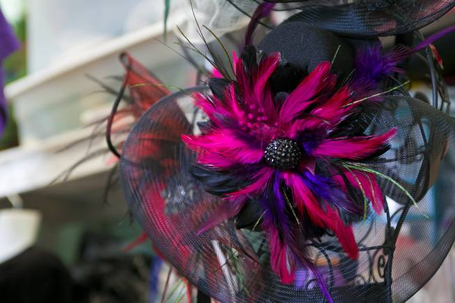 A look at some of the headpieces created by local designer Claire Jane Vranian, Monday, Feb. 18, 2013.