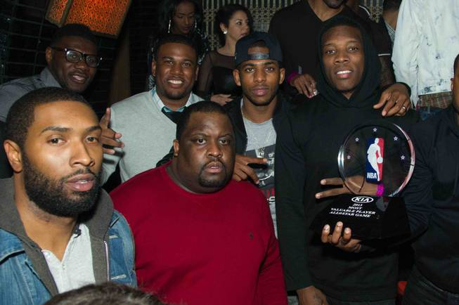 Chris Paul, second from right, and his 2013 MVP All-Star ...