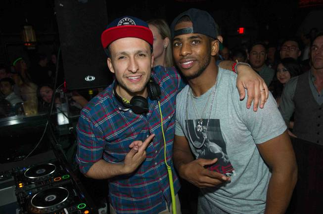 DJ Vice and Chris Paul at Lavo in Palazzo on ...