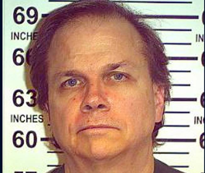 This May 15, 2012, file photo provided by the New York State Department of Corrections shows Mark David Chapman at the Wende Correctional Facility in Alden, N.Y.
