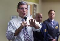 Congressman Joe Heck (R-NV) responds to a question during a town hall meeting with constituents at Pacific Pines Senior Apartments in Henderson Tuesday, Feb.19, 2013.