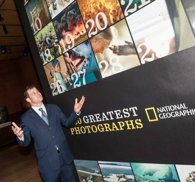 "National Geographic's ""50 Greatest Photographs"" exhibit at The Venetian on Tuesday, Feb. 12, 2013. Imagine Exhibitions President and CEO Tom Zaller is pictured here."