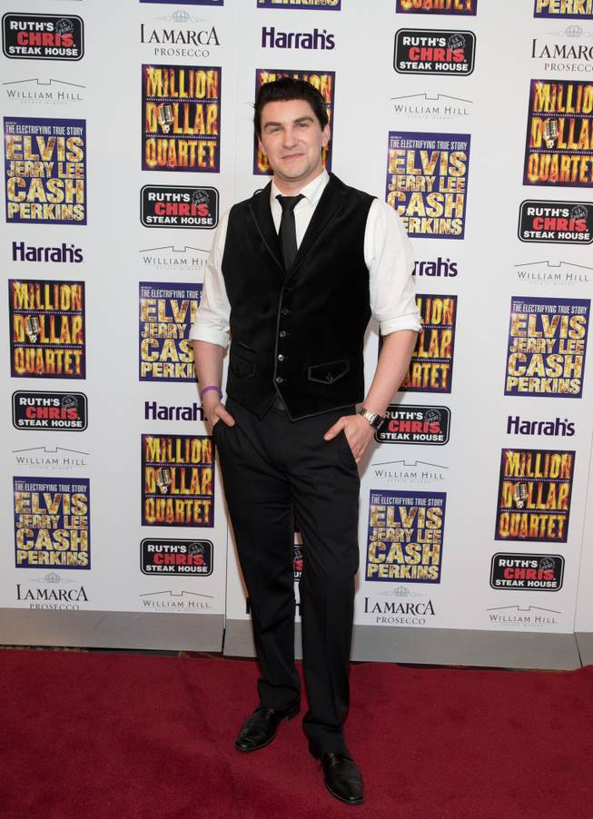 "Ben Hale at the grand opening of ""Million Dollar Quartet"" at Harrah's on Tuesday, Feb. 19, 2013."