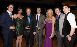 Robert Lyons, Carla Pellegrino, Martin Kaye, Marc Donovan, Felice Garcia, Tyler Hunter and Ben Hale at the grand opening of
