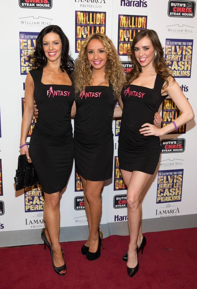 "Cast members of ""Fantasy"" at the grand opening of ""Million Dollar Quartet"" at Harrah's on Tuesday, Feb. 19, 2013."