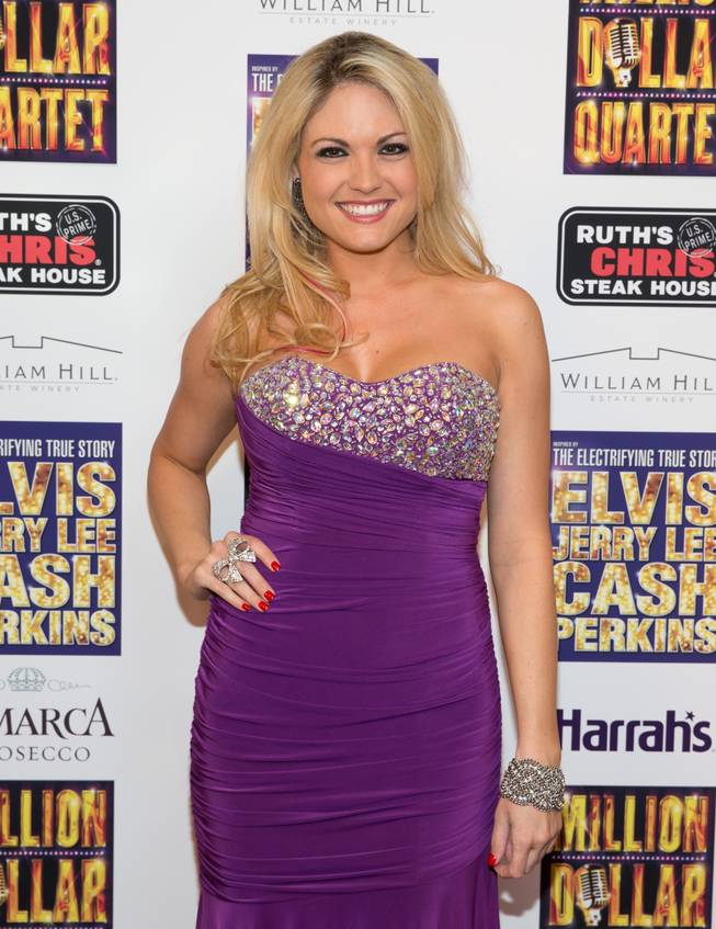 "Felice Garcia at the grand opening of ""Million Dollar Quartet"" at Harrah's on Tuesday, Feb. 19, 2013."