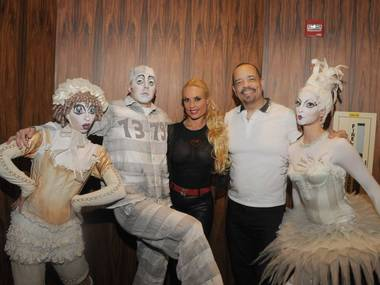 "Ice-T and Coco at ""Zarkana"" in Aria."