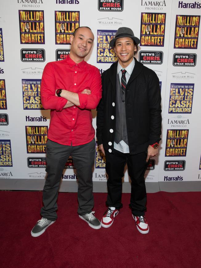 "Jabbawockeez members at the grand opening of ""Million Dollar Quartet"" at Harrah's on Tuesday, Feb. 19, 2013."