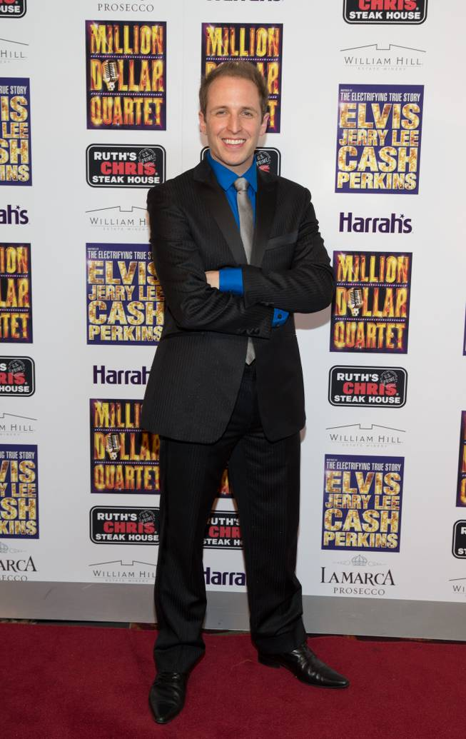 "Martin Kaye at the grand opening of ""Million Dollar Quartet"" at Harrah's on Tuesday, Feb. 19, 2013."