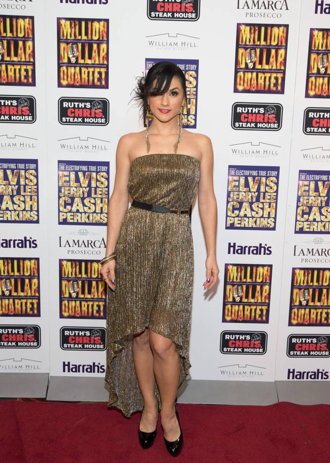 "Melody Sweets at the grand opening of ""Million Dollar Quartet"" at Harrah's on Tuesday, Feb. 19, 2013."