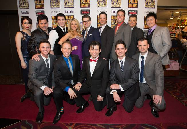 "The cast of ""Million Dollar Quartet"" at the show's grand opening at Harrah's on Tuesday, Feb. 19, 2013."