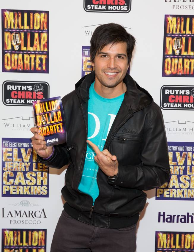 "Ricardo Laguna at the grand opening of ""Million Dollar Quartet"" at Harrah's on Tuesday, Feb. 19, 2013."