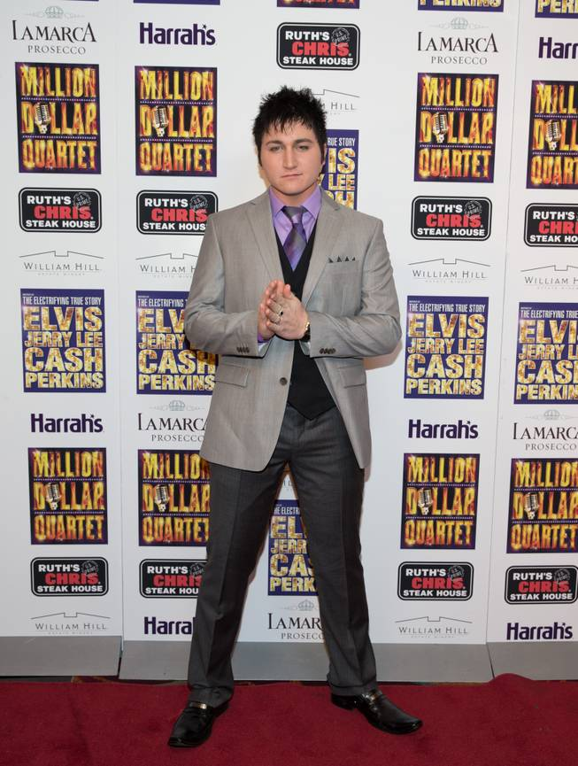 "Tyler Hunter at the grand opening of ""Million Dollar Quartet"" at Harrah's on Tuesday, Feb. 19, 2013."