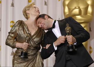 Best actress Meryl Streep, left, for