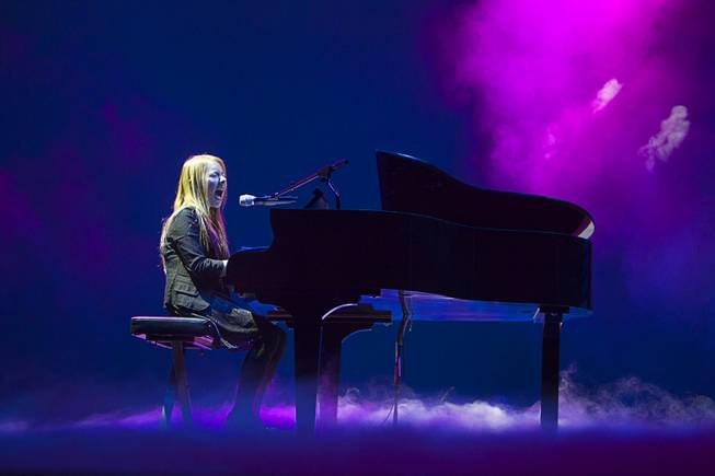 "Anna Graceman, 13, rehearses for ""America's Got Talent Live"" at Palazzo Theater on Monday, Feb. 25, 2013."