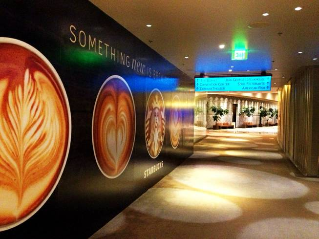 A new concept design is reportedly in the works for a large new Starbucks at Aria, on the second floor near the pool and buffet, shown here Feb. 20, 2013.