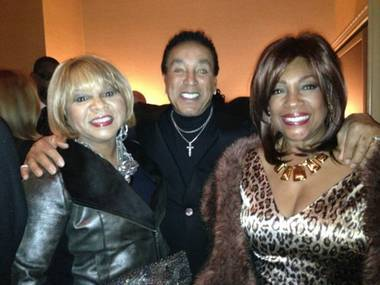 Deniece Williams, Smokey Robinson and Mary Wilson backstage at Human Nature in The Venetian on Friday, Feb. 22, 2013.
